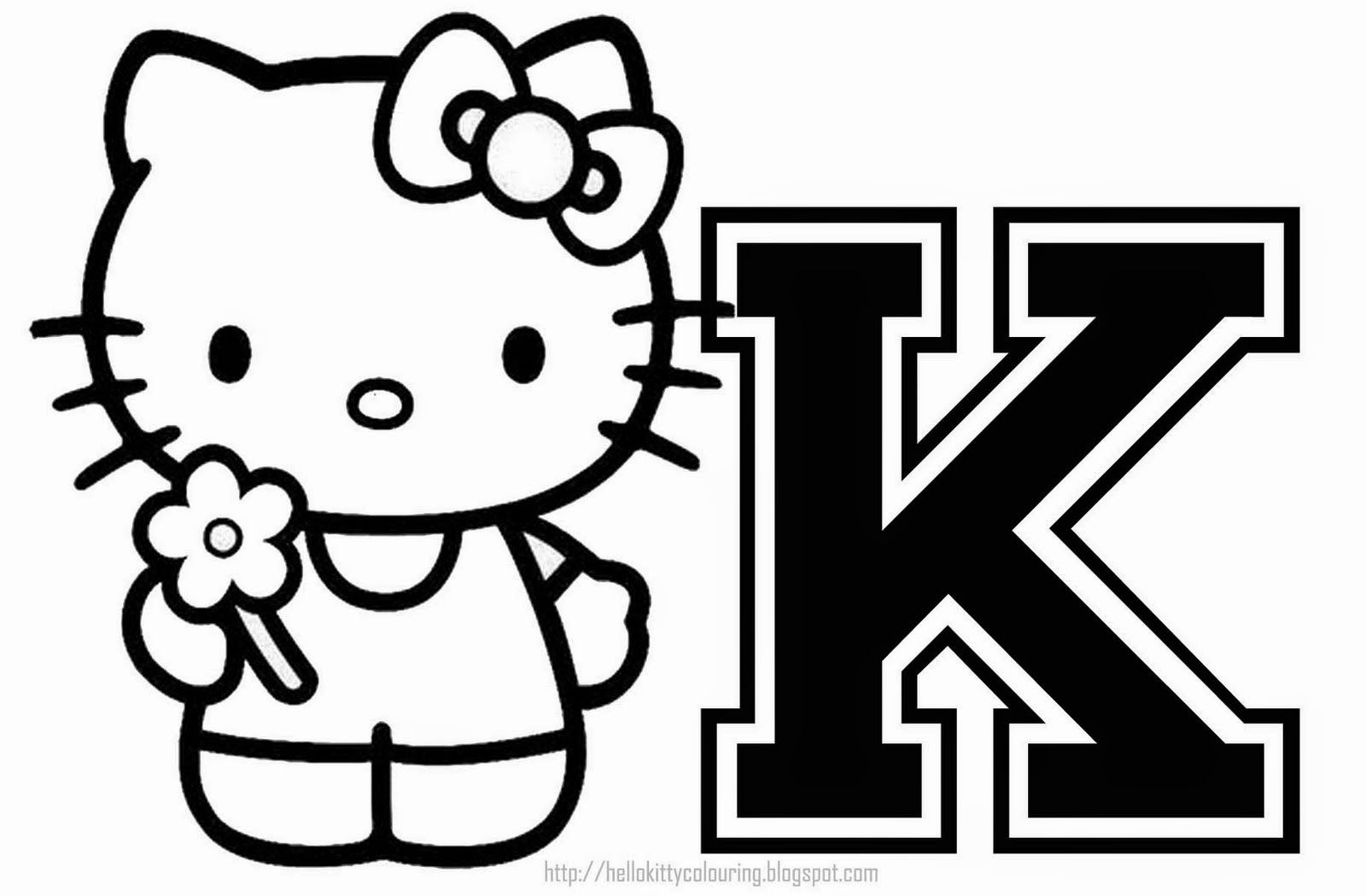 Hello Kitty Computer Coloring Pages