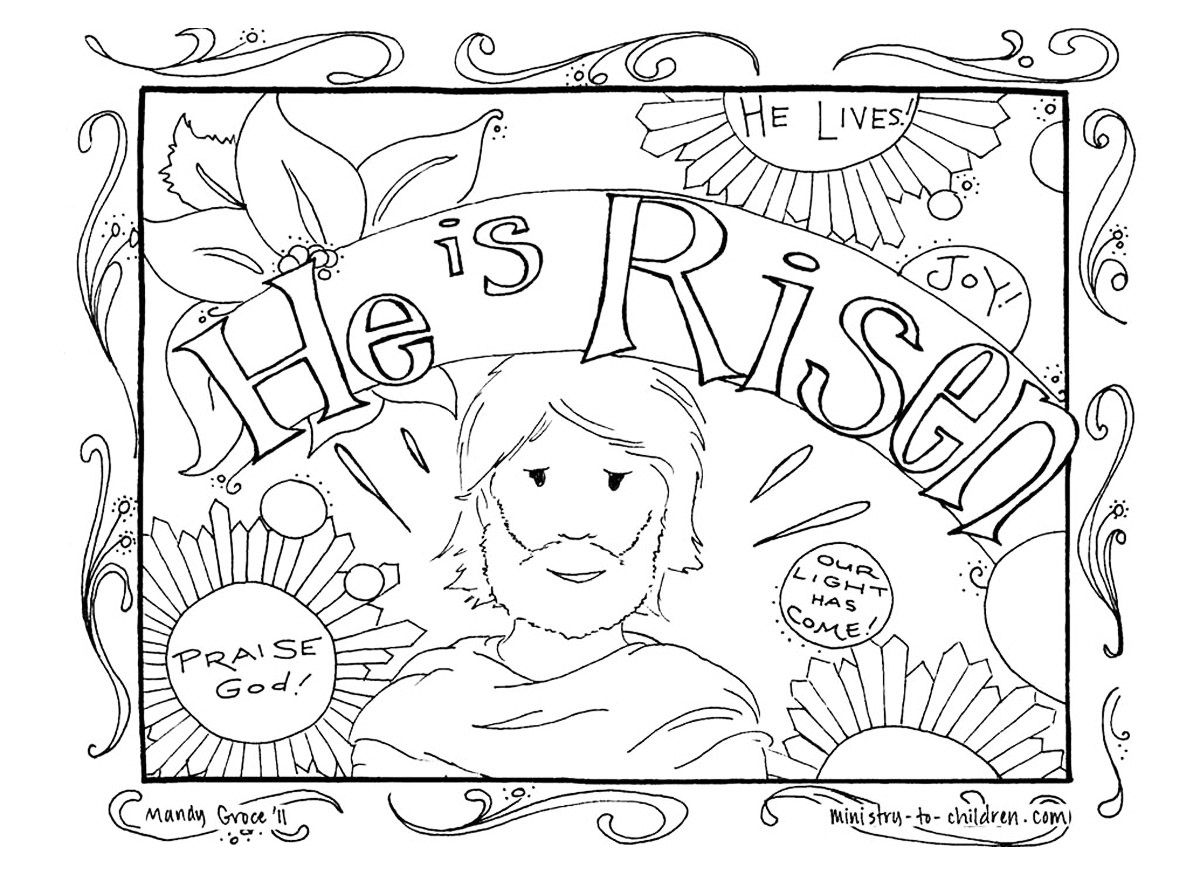Free easter coloring pages for toddlers - Free Christian Coloring Pages For Kids Warren Camp Design