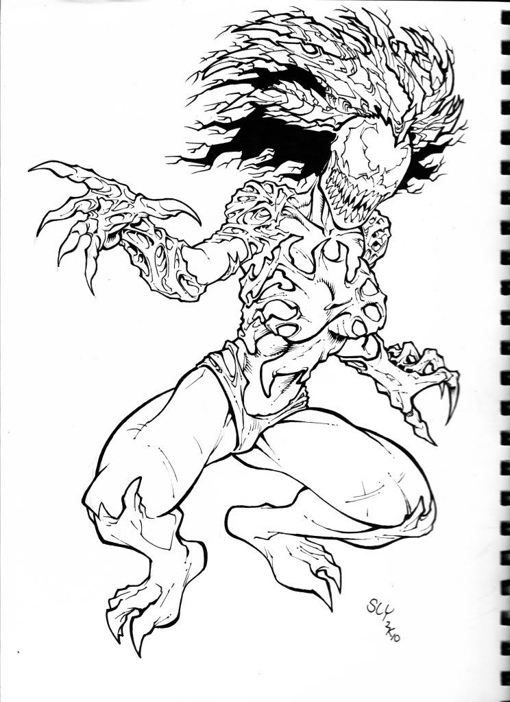 Printable Venom Coloring Pages