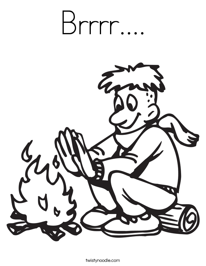 Campfire Coloring Page - Coloring Home