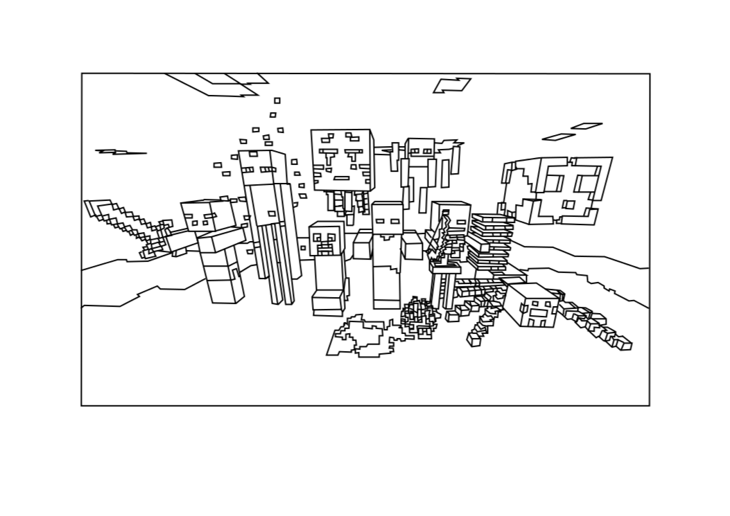 Of Minecraft - Coloring Pages for Kids and for Adults