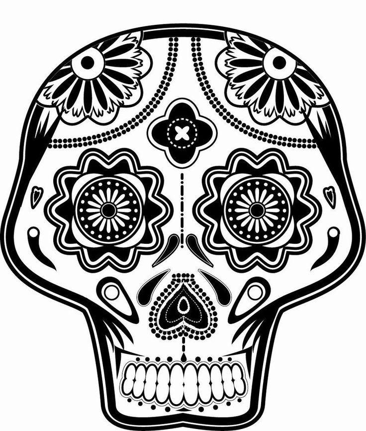 El Dia De Los Muertos Skulls Coloring Pages Coloring Home