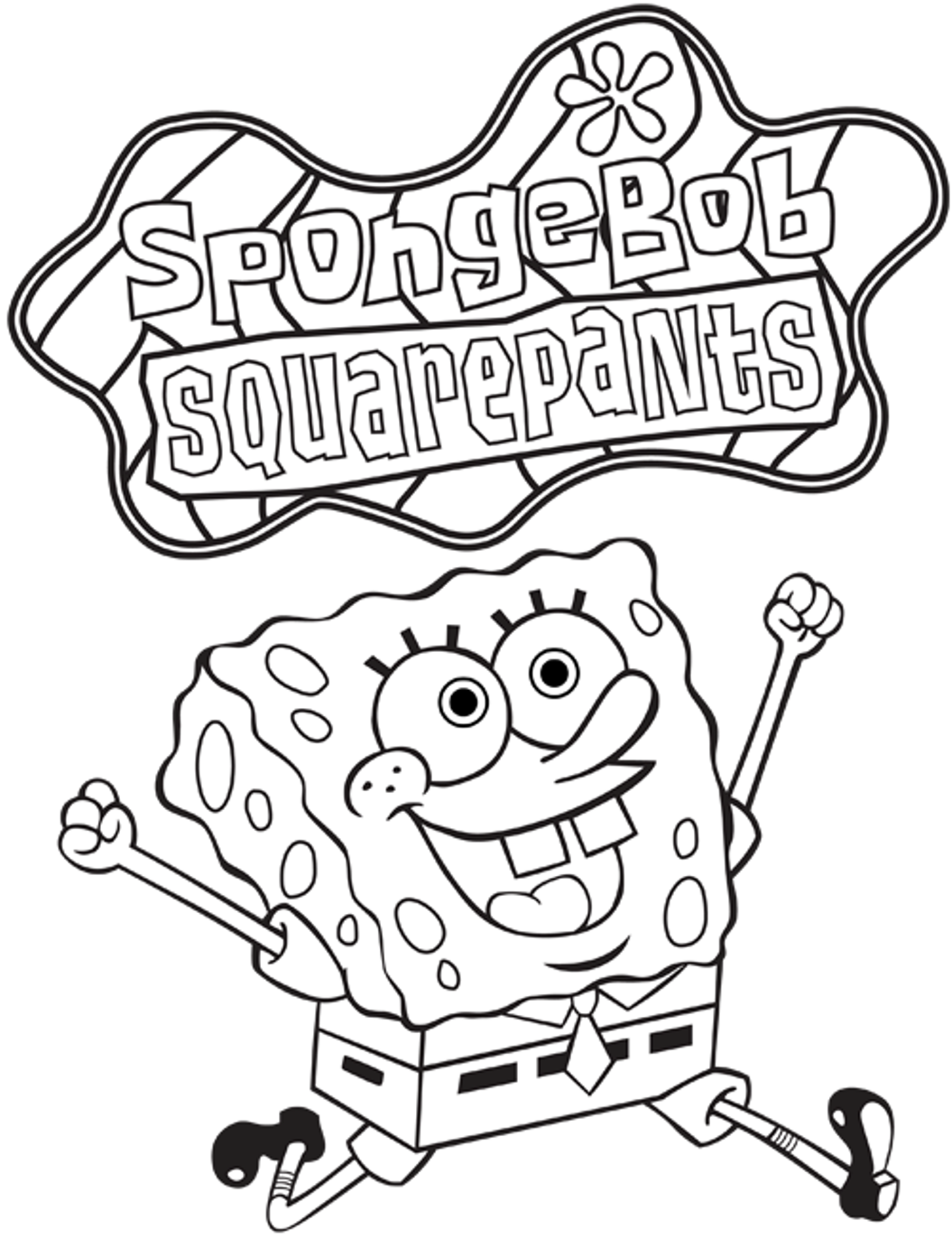 Coloring pages spongebob squarepants printable cartoon coloring