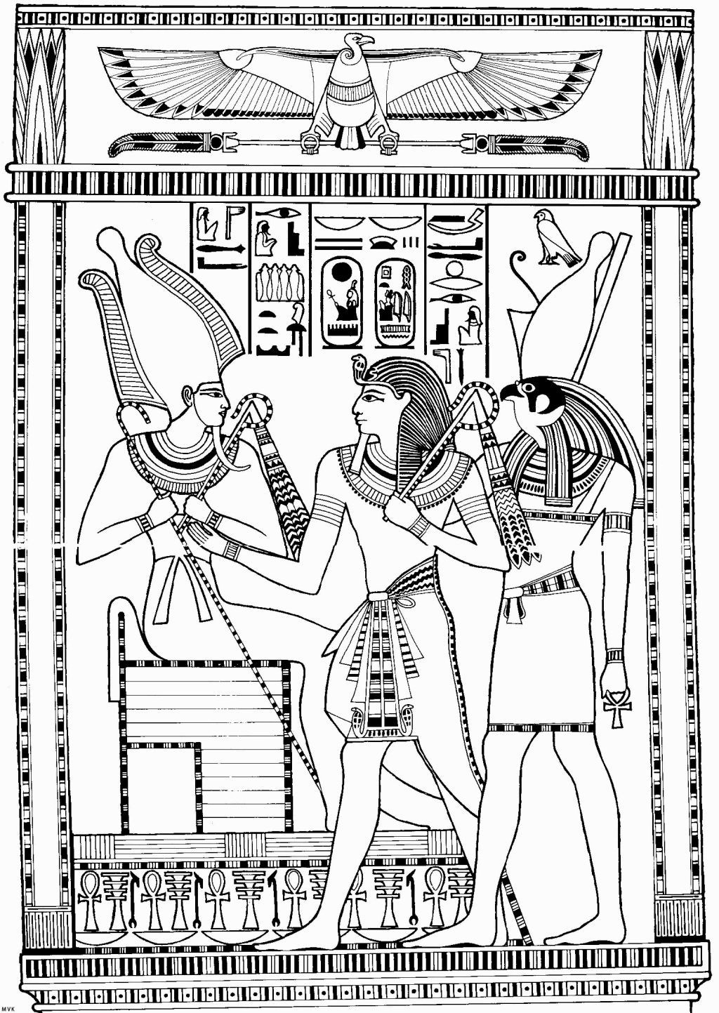 egyptian coloring pages - egyptian god coloring pages az coloring pages