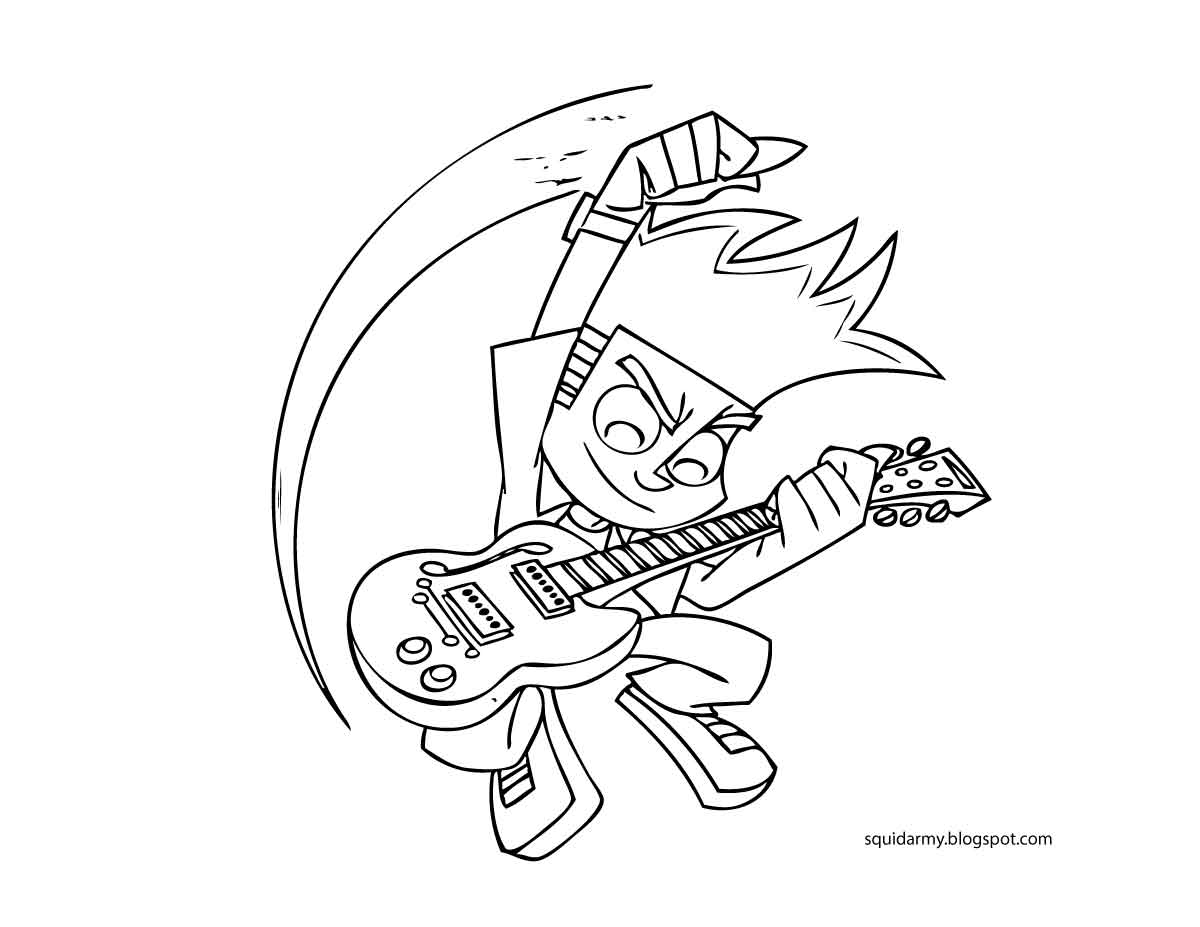 Johnny Test Coloring Pages To Print  Coloring Home