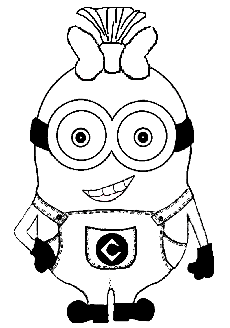 10 pics of pretty girl minion coloring page despicable me