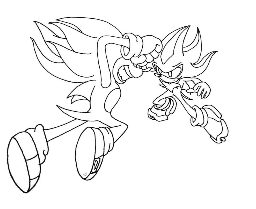 Super Sonic Coloring Pictures - High Quality Coloring Pages