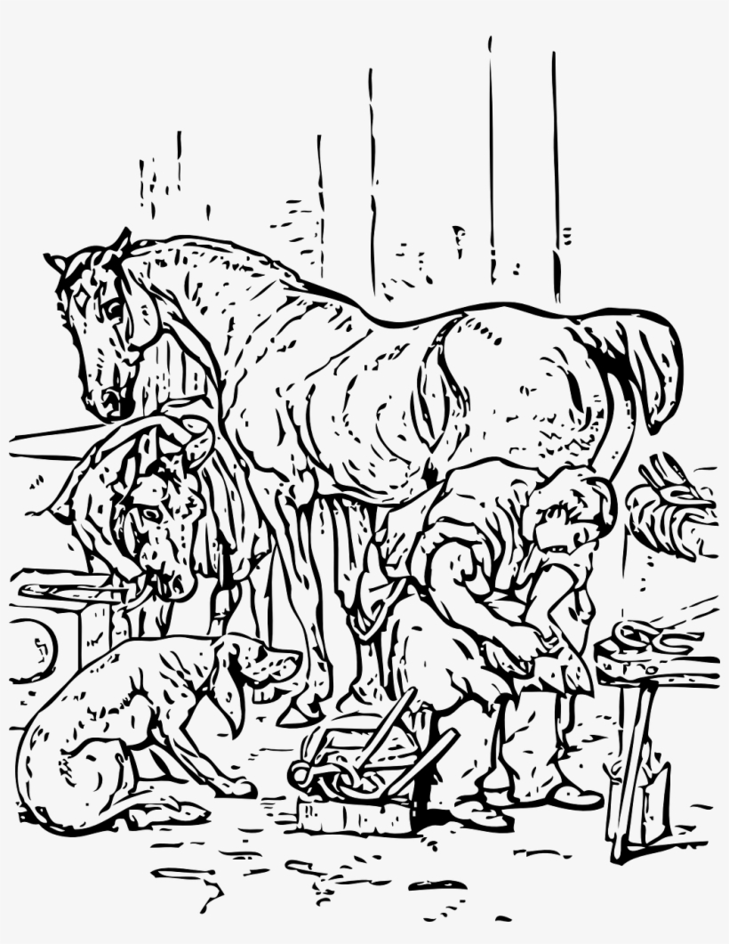 Vector - Coloring Pages Of Horses And Dogs Transparent PNG - 1028x1280 -  Free Download on NicePNG