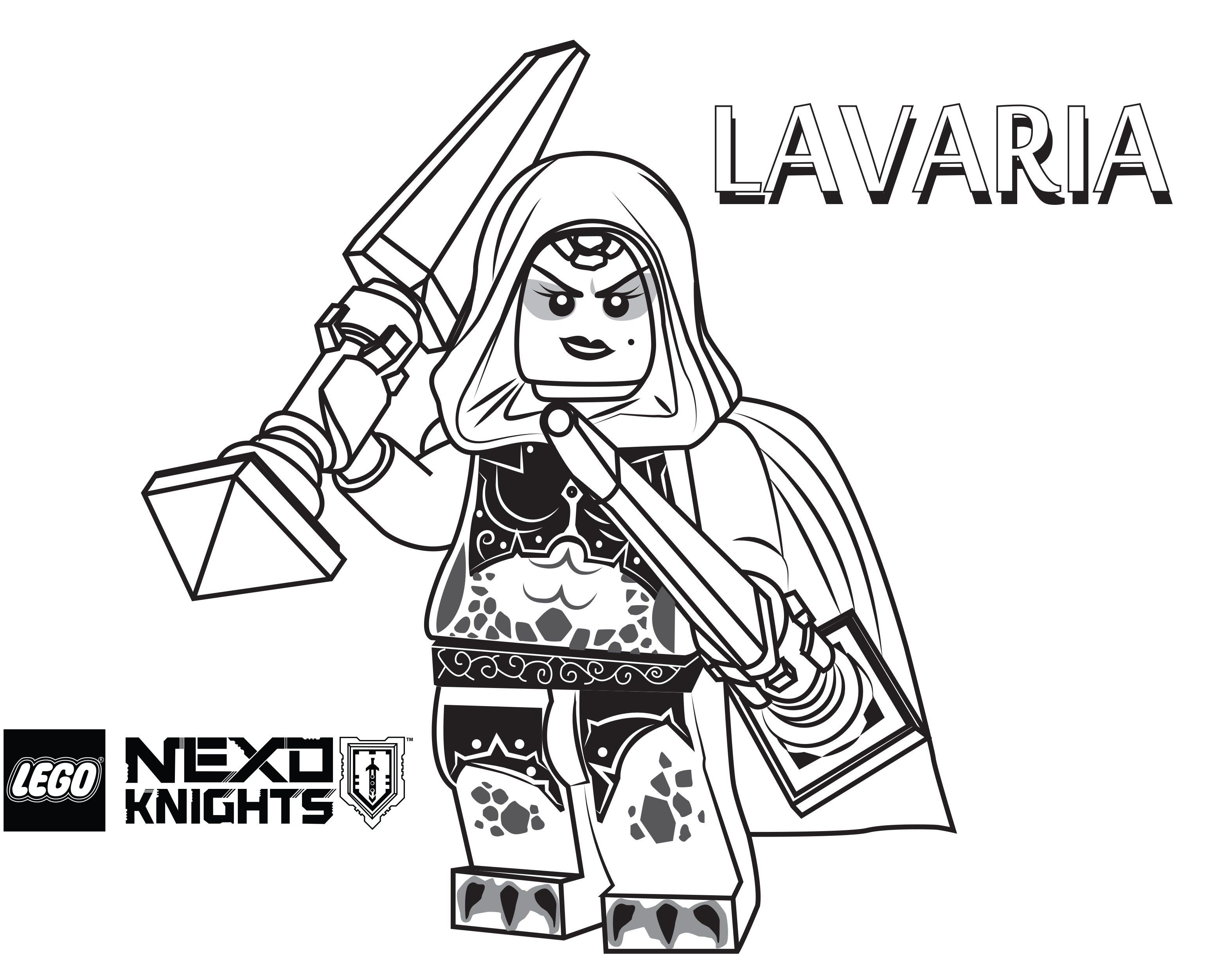 Lego Nexo Knights Coloring Pages Coloring Home