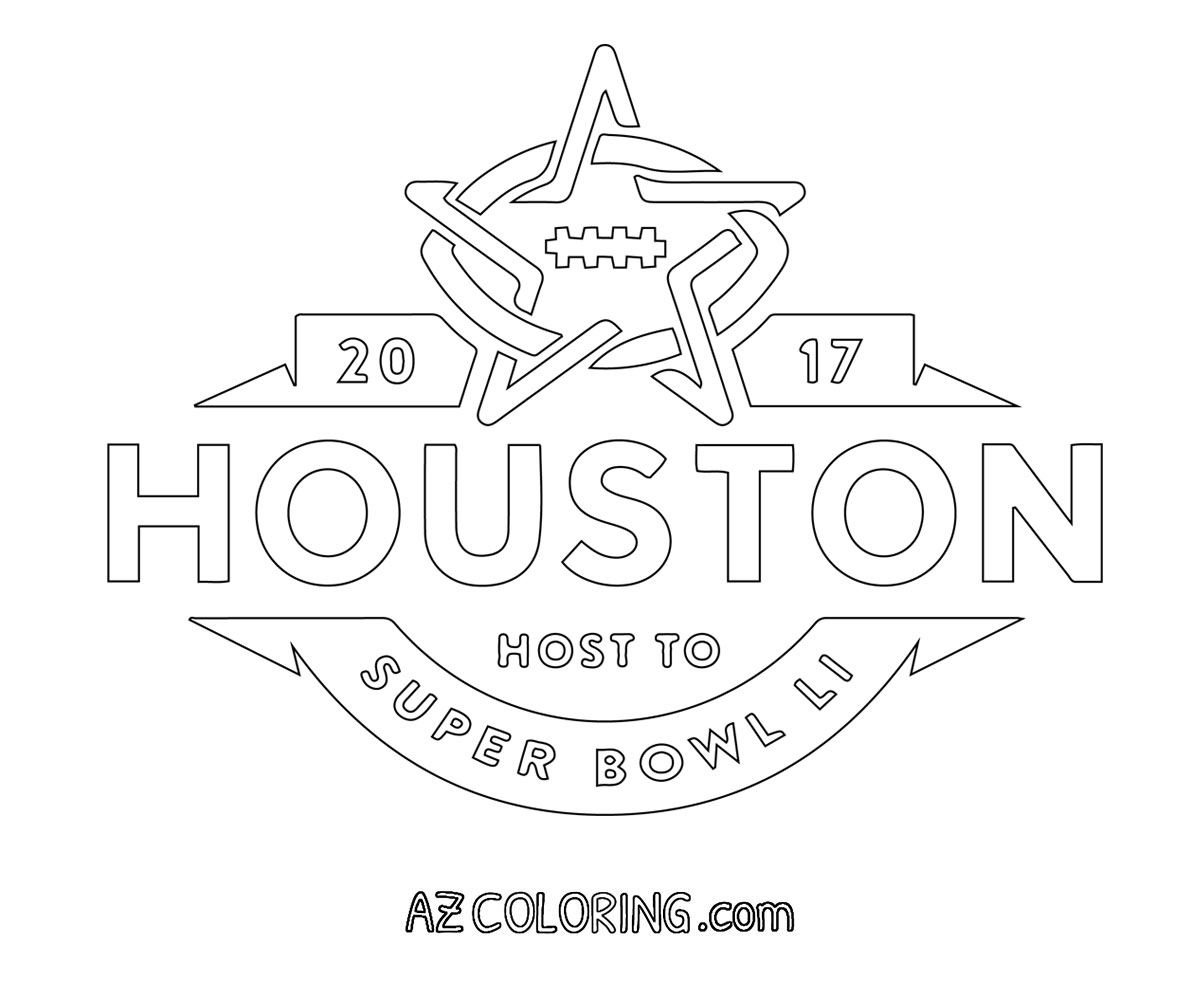 2017 Super Bowl 51 Coloring Page