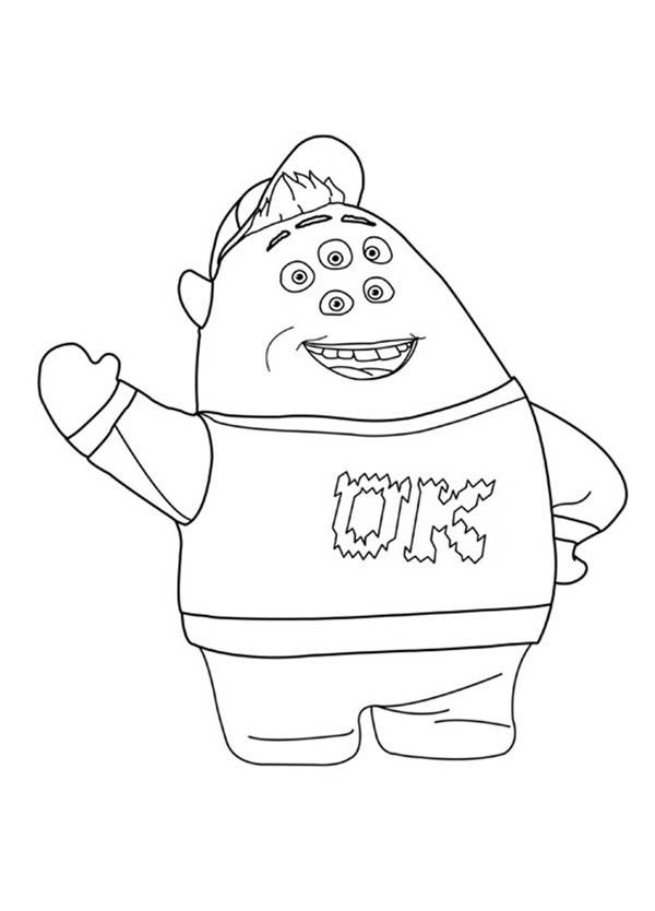 Scott Squishy Squibbles In Monsters University Coloring Page Coloring Home