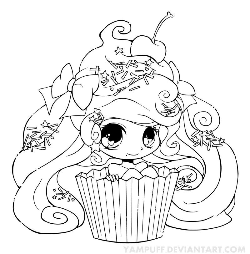 Cute Cupcake Coloring Pages Page 1 Coloring Home