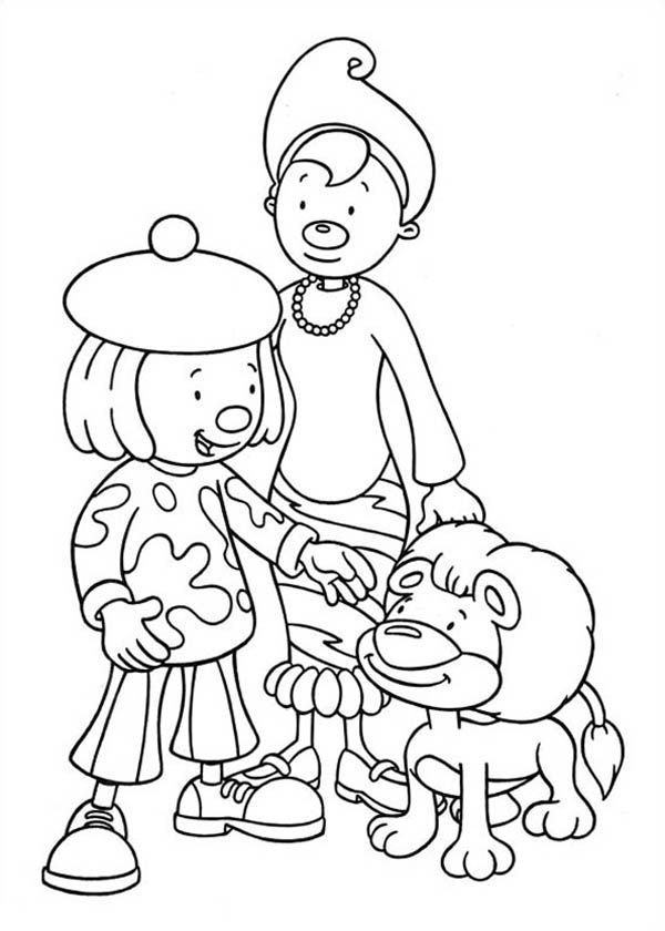 jojos circus coloring pages - photo#16
