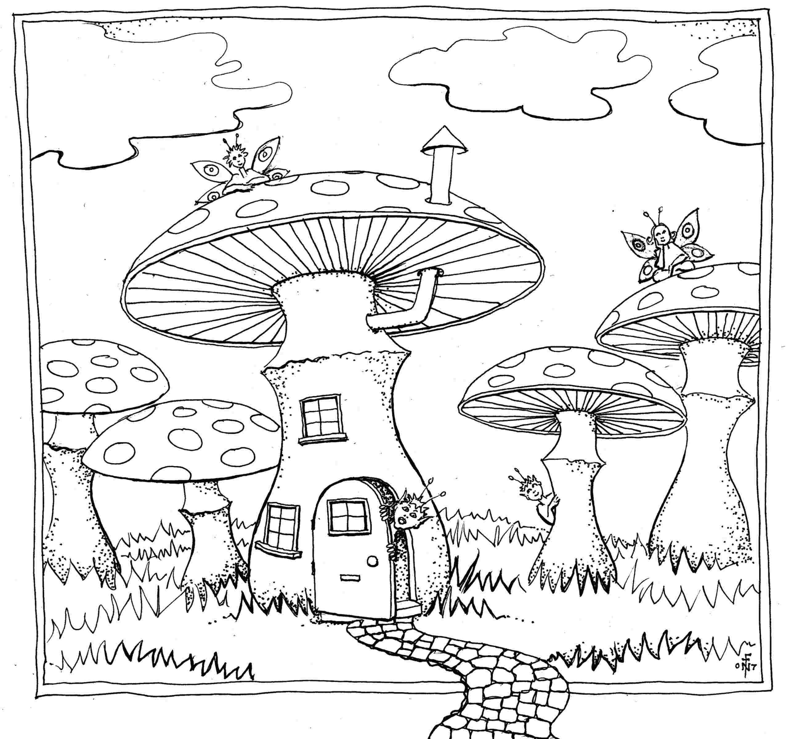 slide alt trippy mushroom coloring pages psychedelic mushroom - Trippy Coloring Pages