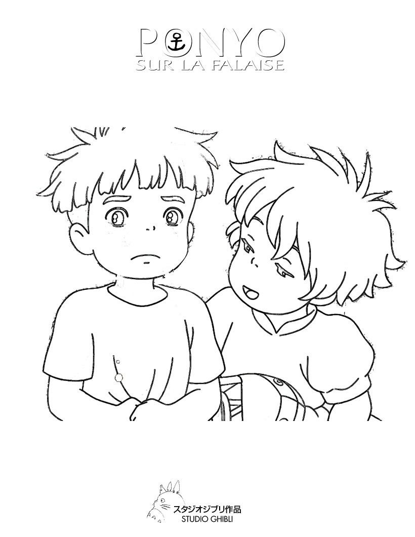 Ponyo Coloring Pages - HiColoringPages