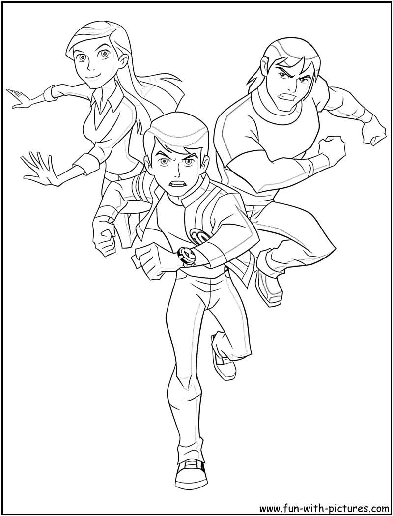 Ben 10 Coloring Pages  Coloring Home