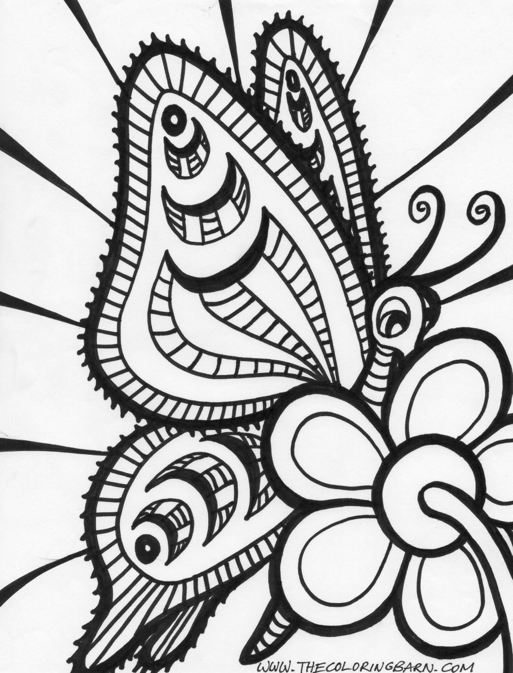 Coloring Pages To Print Abstract : Abstract coloring pages for adults home