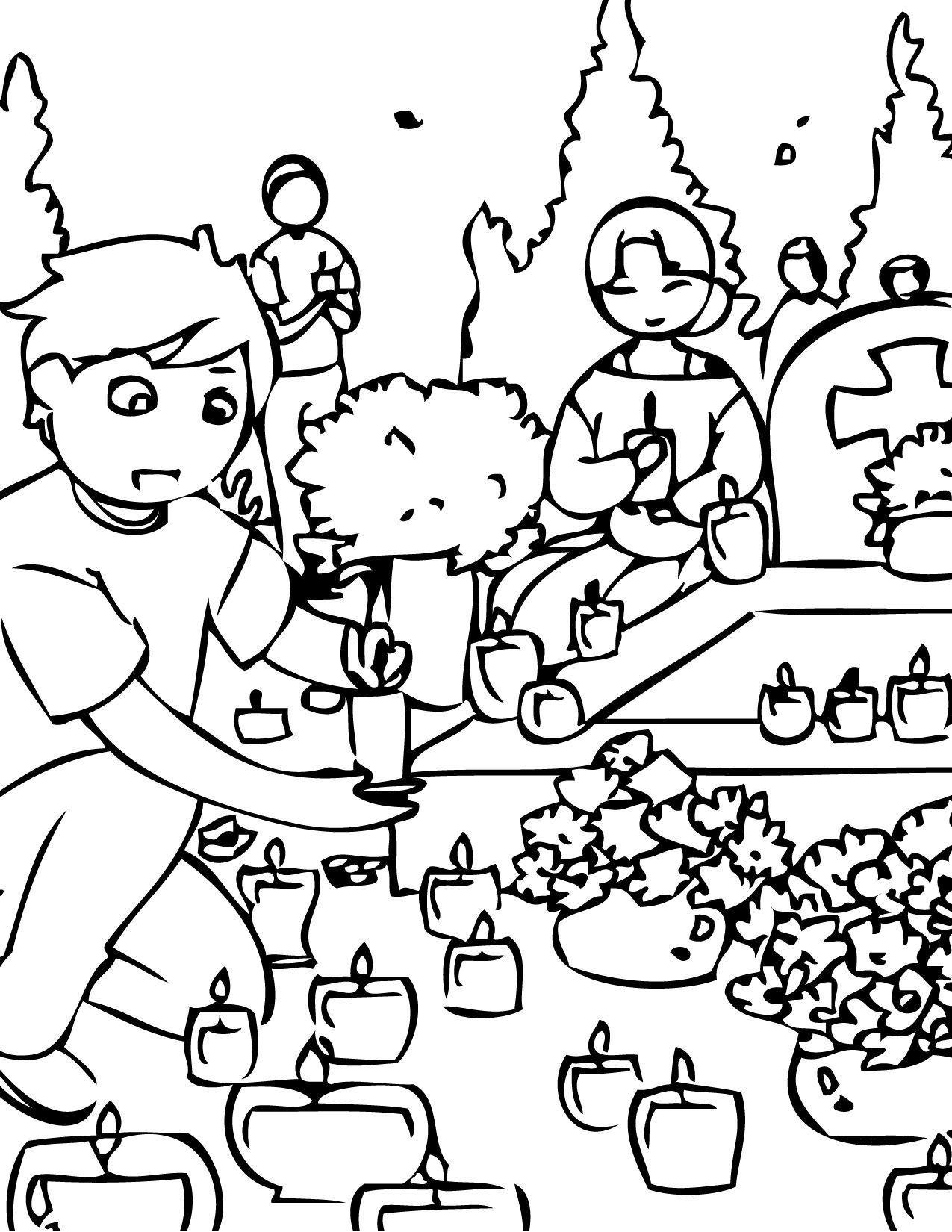 All saints day coloring pages coloring home Coloring book day