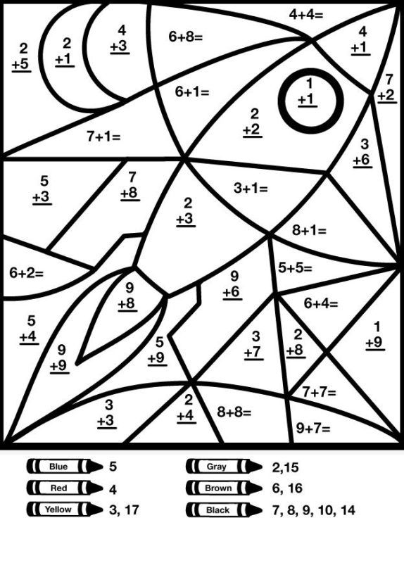 Addition And Subtraction Coloring Pages - Coloring Home
