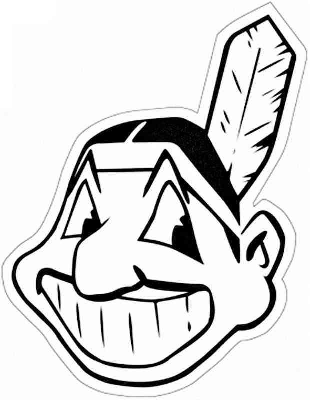 Cleveland indians logo coloring pages sketch coloring page for Baseball teams coloring pages