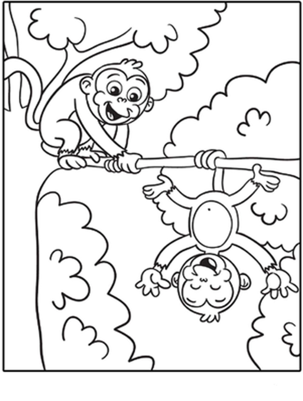 Free coloring pages monkey - Free Monkey Coloring Pages Free Coloring Pages On Masivy World