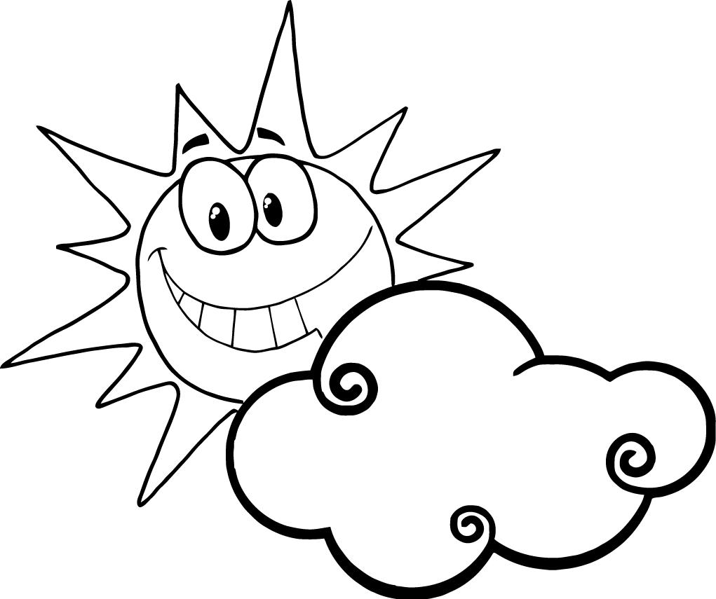 Coloring Pages Of Clouds Coloring Home