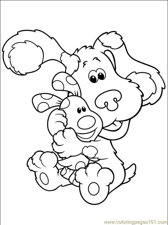 free blues clue coloring pages - photo#19