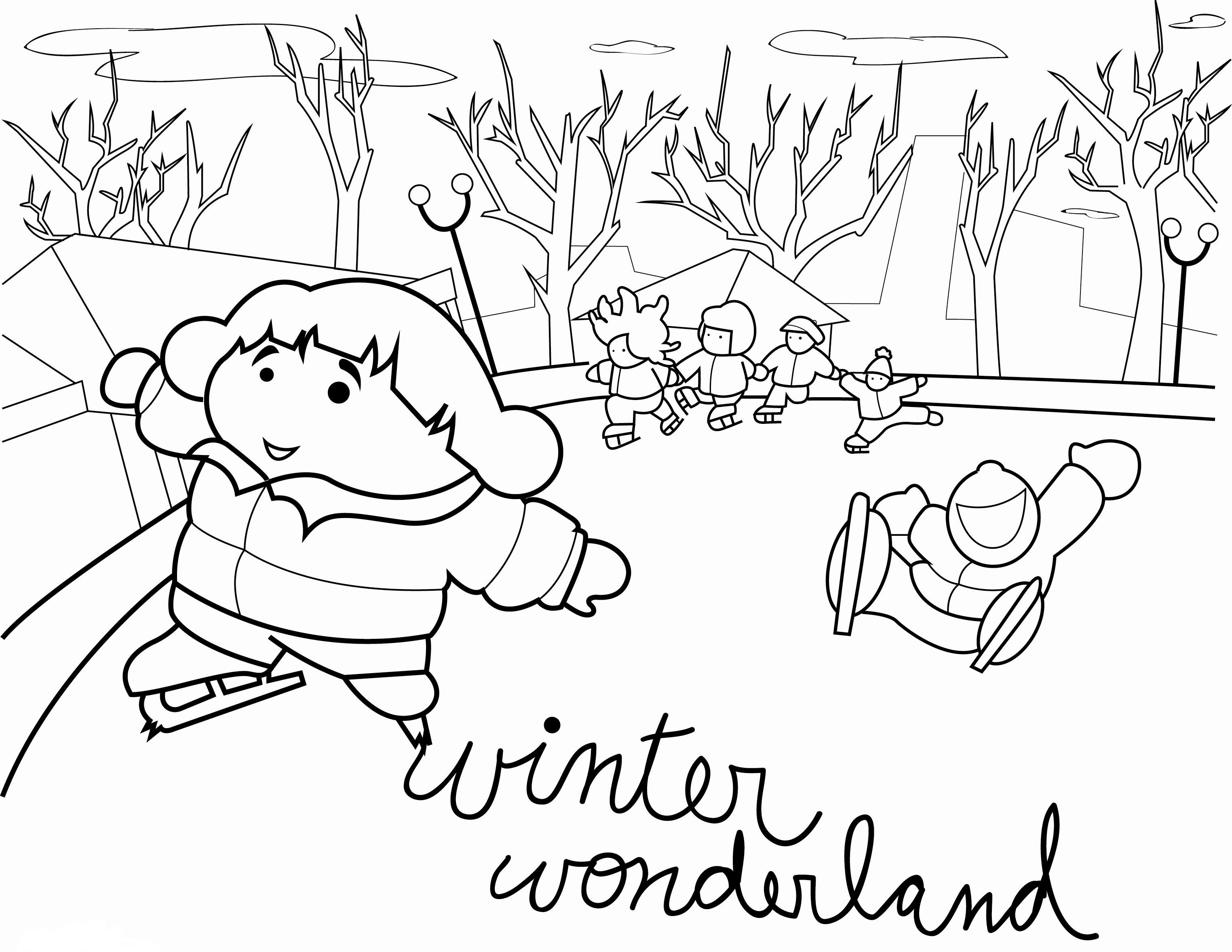 Printable Winter Scene Coloring