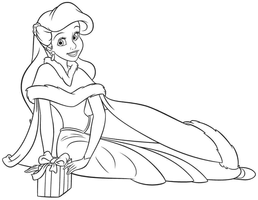 Coloring Book Pages Princess : Disney princesses coloring pages ariel home