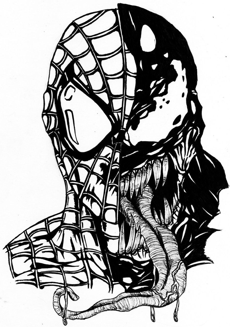Coloring Pages Spiderman Venom