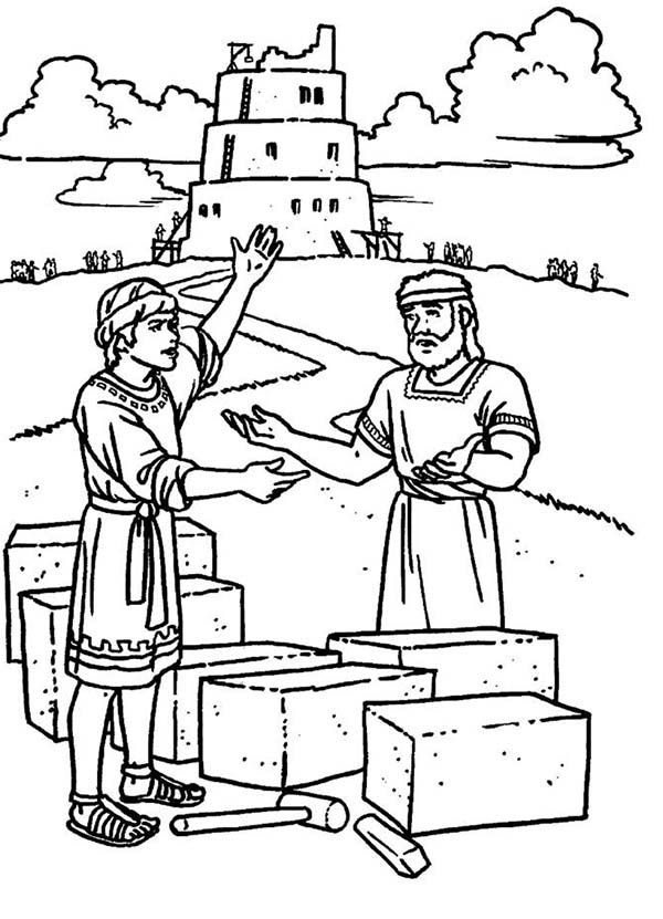 Tower Of Babel Coloring Pages Free