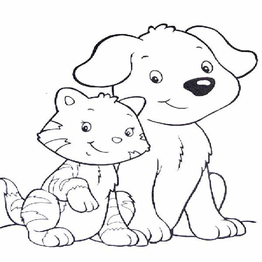 Free coloring page dog
