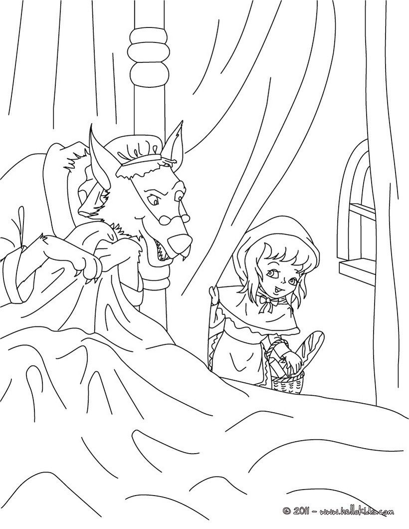 perrault fairy tales coloring pages the little red riding hood