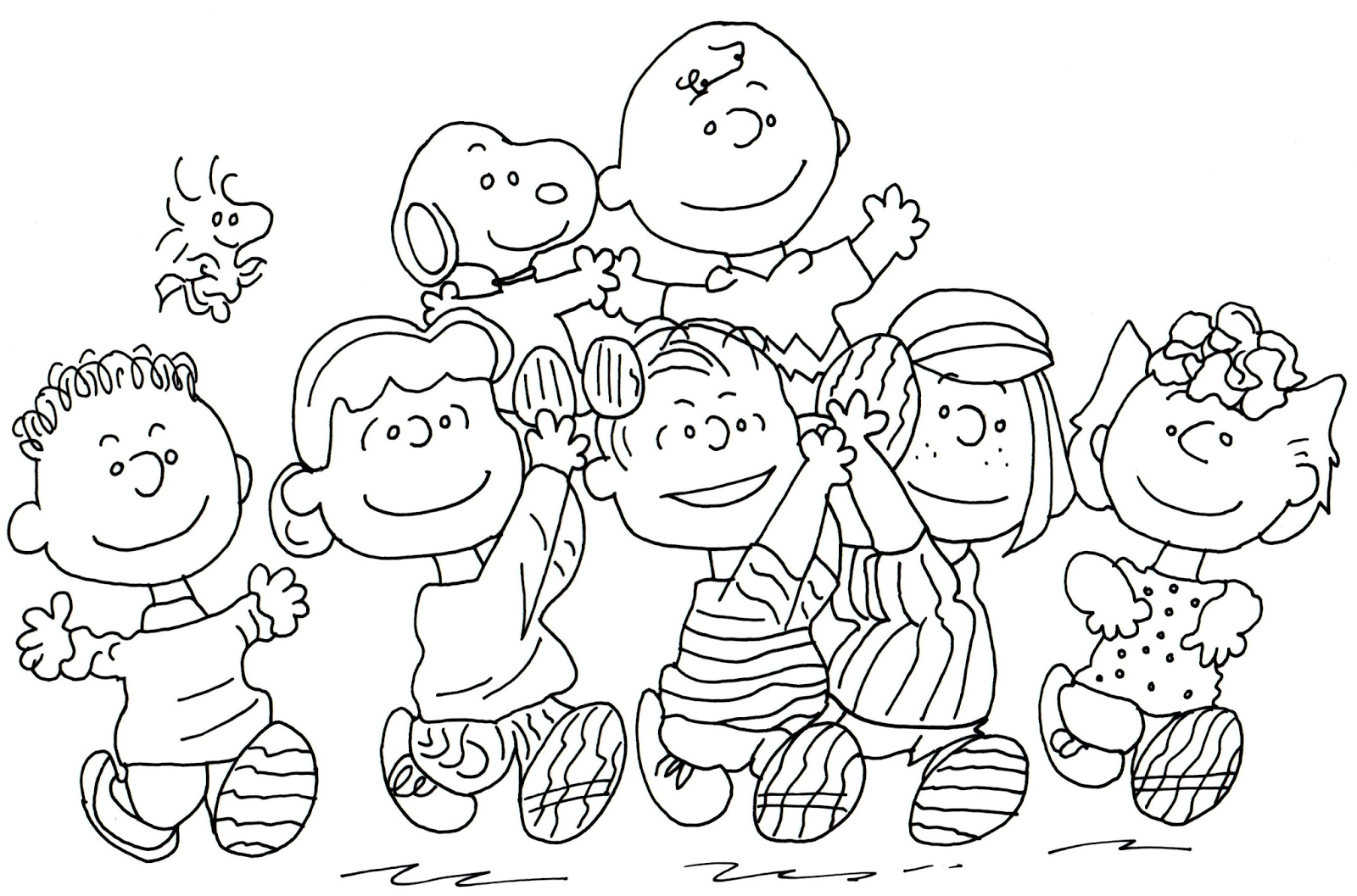 penuts coloring pages - photo#14