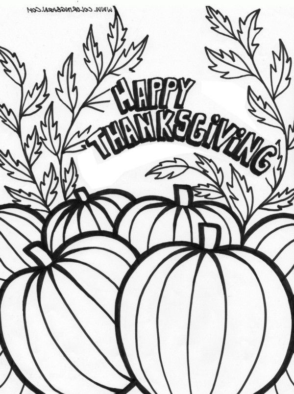 Happy Thanksgiving Coloring Pages Free - Coloring Home