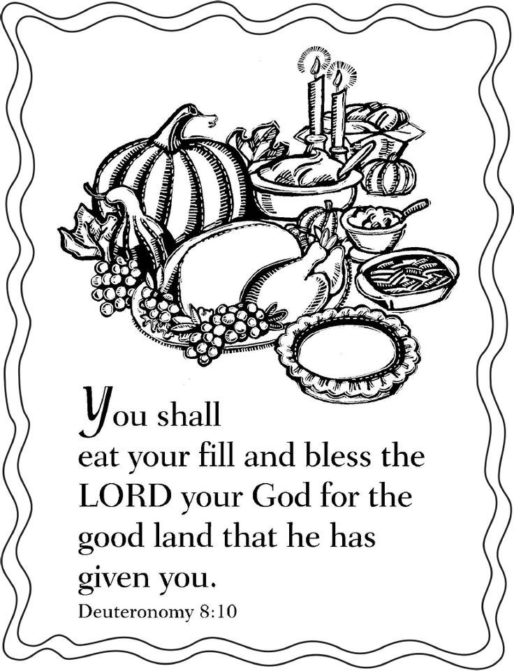 free christian thanksgiving coloring pages - photo#17