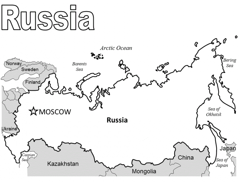 coloring pages of russia - photo#23