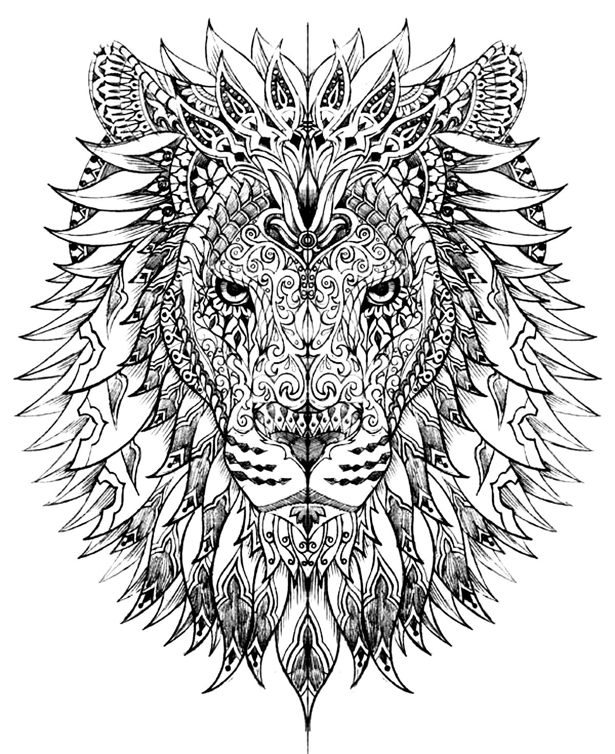 pin complicated coloring pages for adults animal coloring home