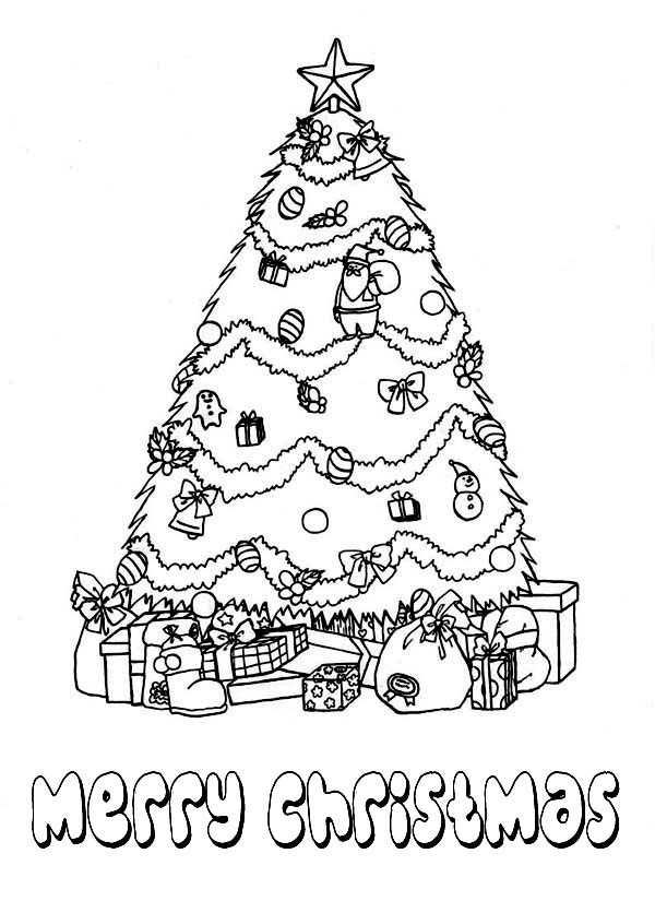 christmas tree present coloring pages - photo#20
