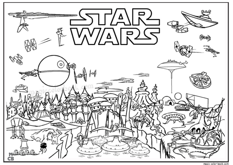 Free Printable Star Wars Coloring Pages Printables On A War - Coloring  Home