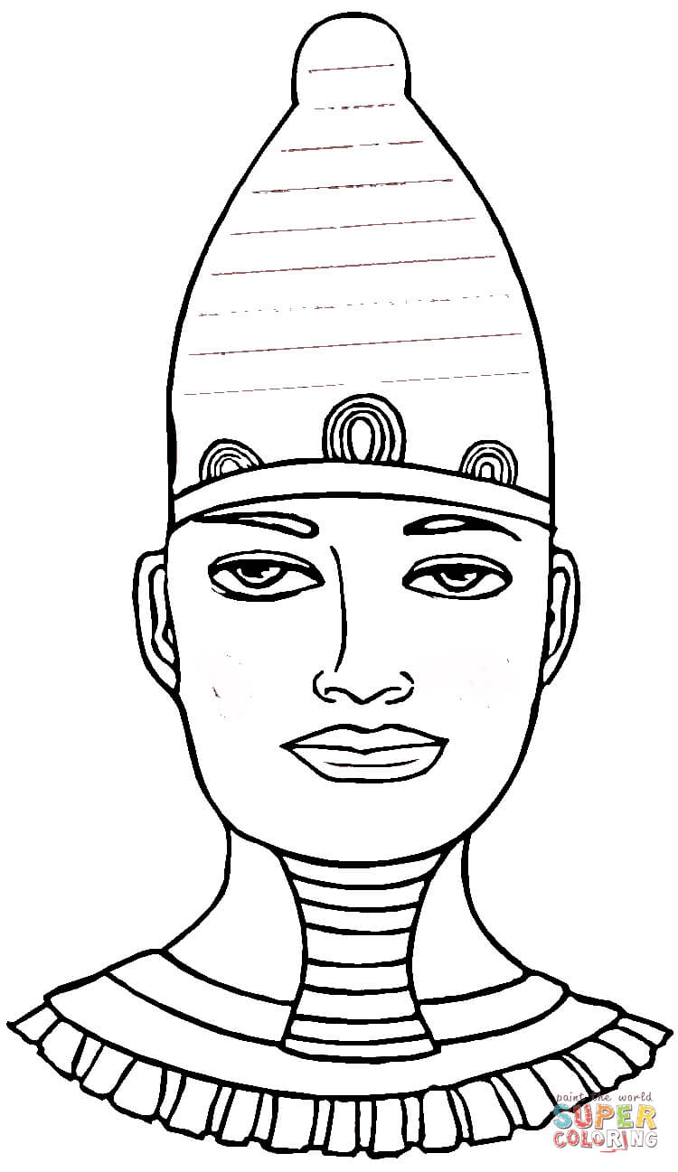 Egyptian Pharaoh Coloring Page Coloring Home