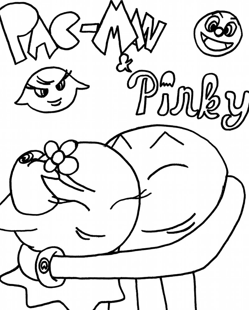 Pac Man Coloring Page