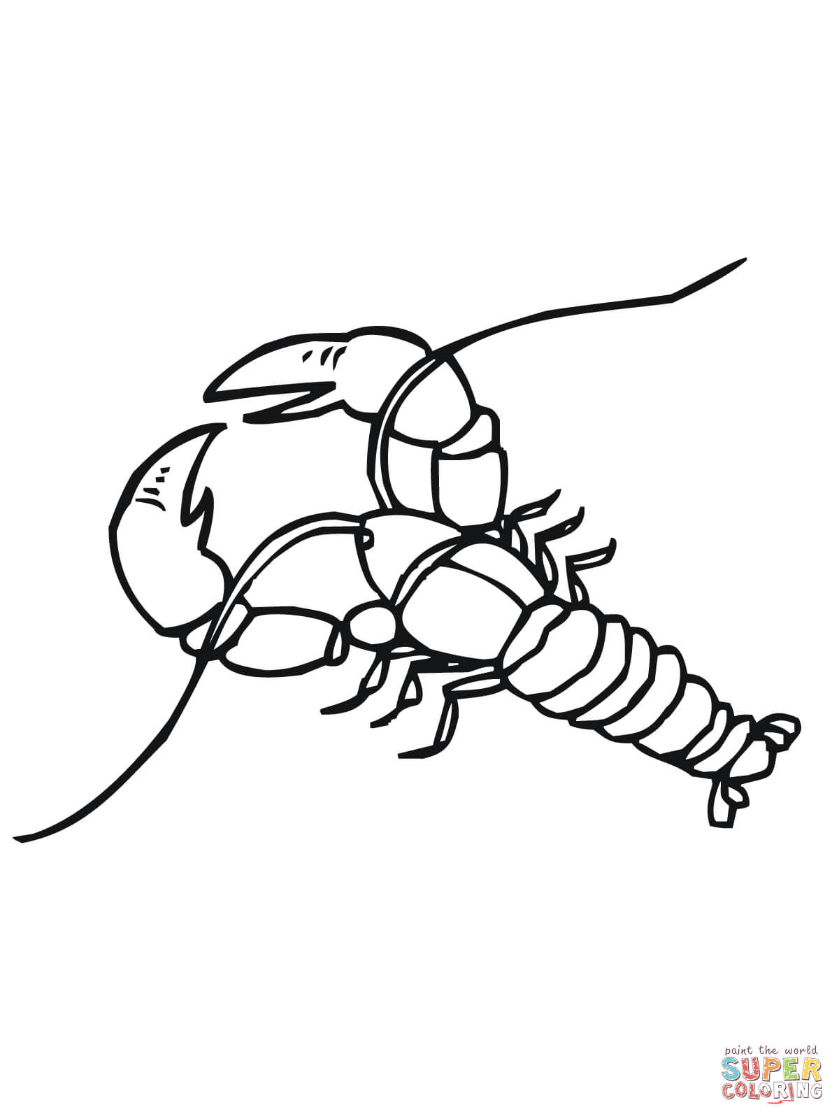 Crawfish Coloring Page Coloring