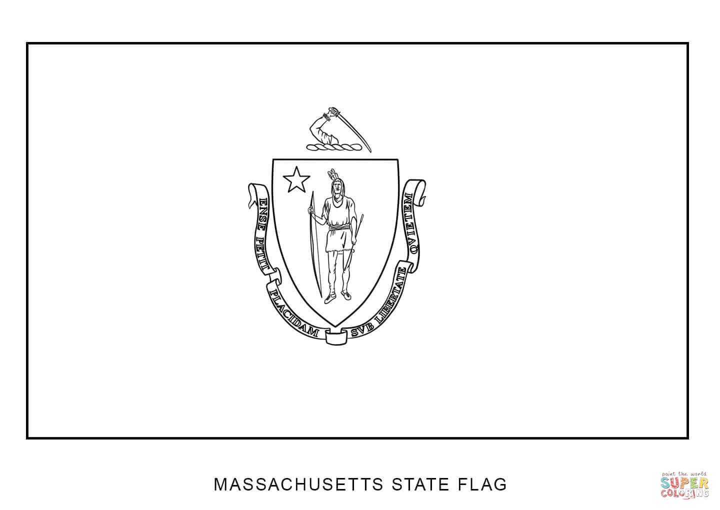 Michigan State Seal Coloring Page Coloring Coloring Pages