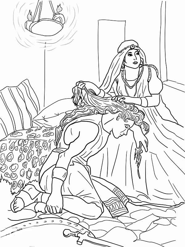 Coloring pages of samson coloring home for Samson and delilah coloring pages