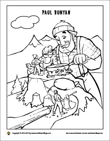 Tall Tale Coloring Pages Coloring