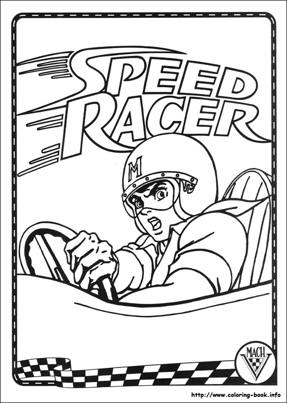 coloring pages speed racer - photo#2