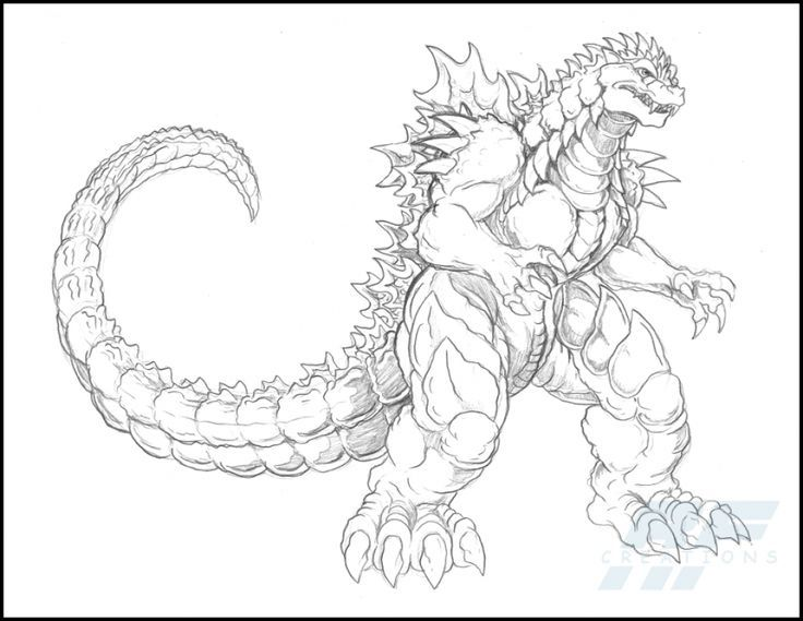 godzilla coloring pages for kids - photo#9