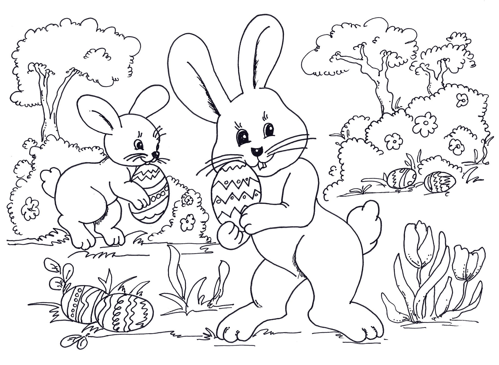 Free Printable Easter Bunny Coloring Pages Pdf   All Round Hobby