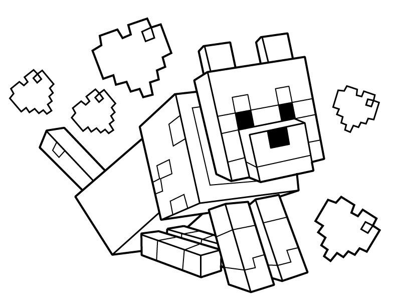 - Minecraft Dog Coloring Pages - Coloring Home